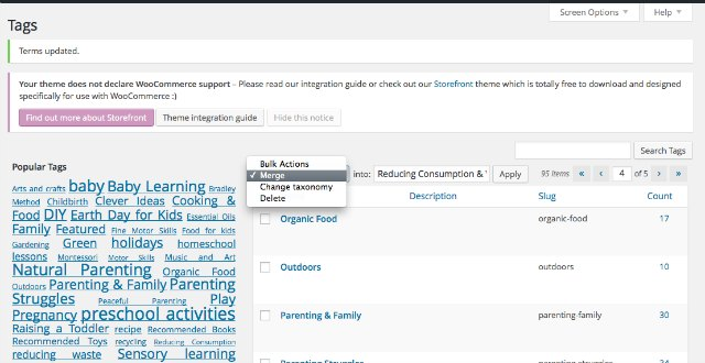 How to merge two tags in wordpress or change a tag to a category or vice versa. (Easily!)