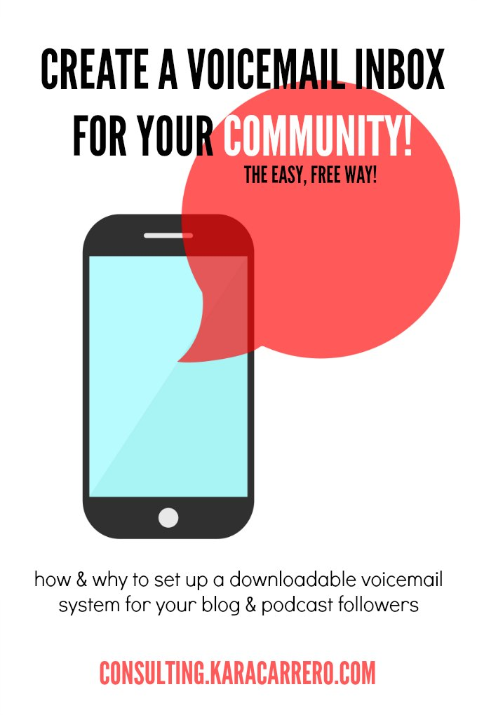 Create a voicemail inbox for your podcast, blog, or vlog fans to be able to connect with them as a community. Maybe just as important as a newsletter!