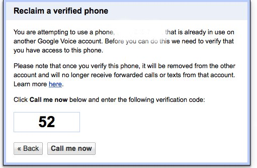 taking your number off your google voice account