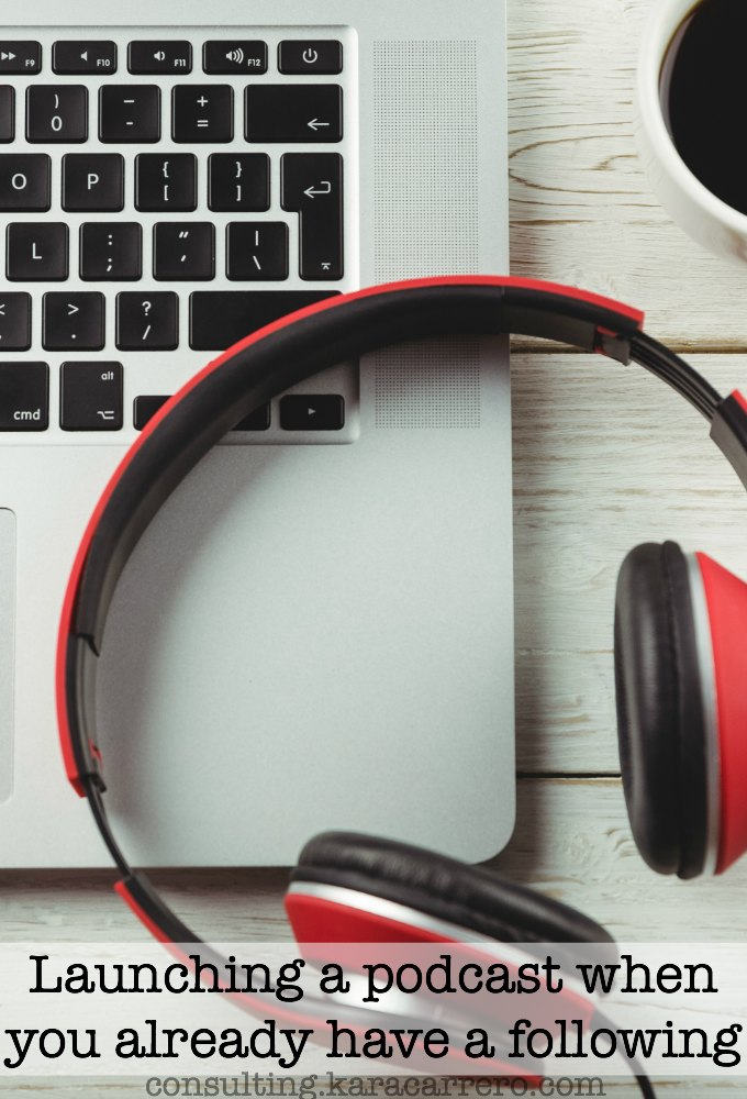 How to launch a podcast successfully when you already have a blog or online presence.