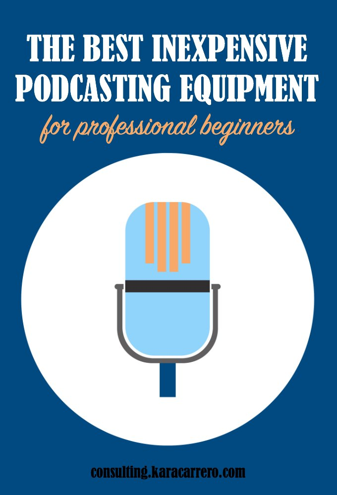 The best podcasting equipment and microphone recommendations for professional beginners and bloggers adding a podcast to their media kit.