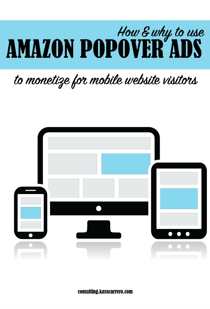 how to use amazon popover ads to monetize