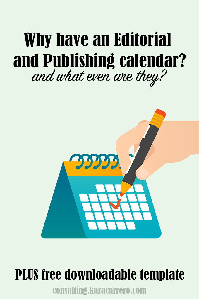 How to use an editorial and publishing calendar. Plus get a free editable template download to organize your blog and posting schedule.