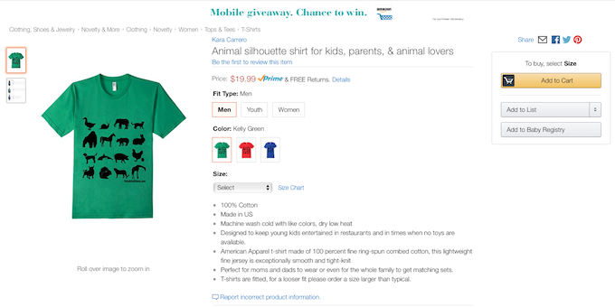 merch-by-amazon-sales-page-listing